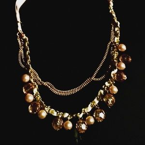Jewelry - Ladies gold and brown bead necklace
